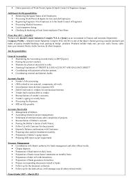 Accounts Receivable Job Description Resume by Modassar Nazar Cv