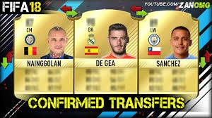 alexis sanchez youtube fifa 18 confirmed summer transfers rumours ft de gea