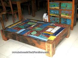 Bali Coffee Table Reclaimed Boat Wood Furniture Coffee Table From Bali Indonesia