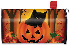 halloween cat cover photos evergreen festive holiday christmas magnetic mailbox cover
