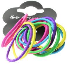 hair elastics hair elastics snag free bright thick and thin 12 pack totesu