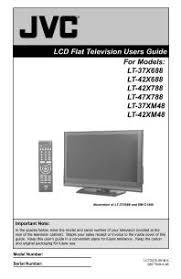 jvc hd 56g786 l lt 37xm48 jvc lcd flat screen tv television manual