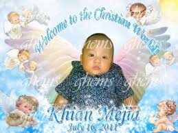 layout for tarpaulin baptismal angel christening tarpaulin ghems partyneeds catering services