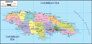 jamaica physical map country physical map of jamaica