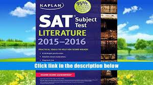 read online kaplan sat subject test literature 2015 2016 kaplan