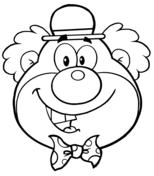 clown coloring pages free printable pictures