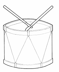 learning years toy drum coloring page simple shape
