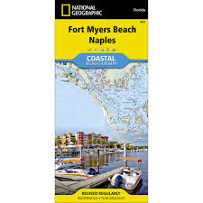 Map Of Fort Myers Florida by 407 Fort Myers Beach Naples Trail Map National Geographic Store