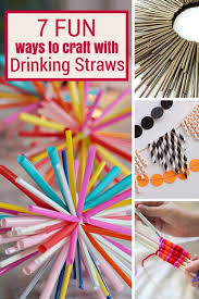 7 ways to craft with straws straws and