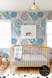 nursery wallpaper watercolor birds and flowers wall mural