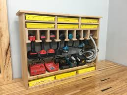 Charging Shelf Cordless Tool Station And Storage This Shelf Holds 7 8