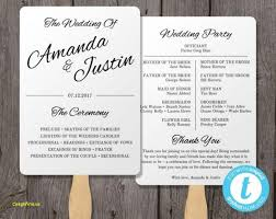 wedding program fan templates free free printable rustic wedding program templates archives free