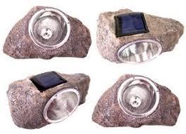 amazon com 2 pack solar powered rock outdoor garden accent