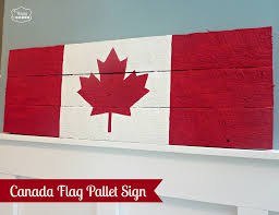 happy canada day eh canada flag pallet sign the happy housie