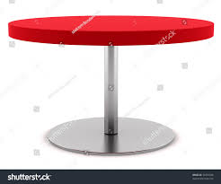 Red Round Coffee Table - modern red round table isolated on stock illustration 70355428