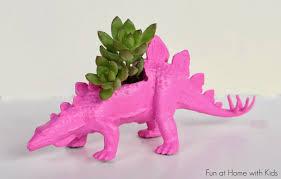 diy dinosaur planters for under five dollars