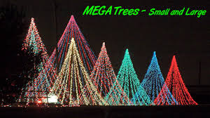 recycling trees lights necklace