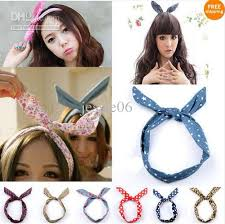 korean headband fashion women korea korean rabbit ear cowboy ribbon