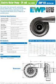 automotive electric water pump davies craig 8026 electric water pump ewp115 liters nylon kit 24v