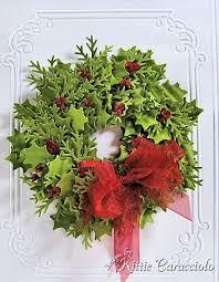 and pine wreath kittiekraft