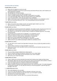Moving Resume Sample by 45 Great Moving Checklists Checklist For Moving In Out