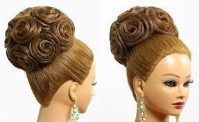 bridal bun hairstyle women medium haircut