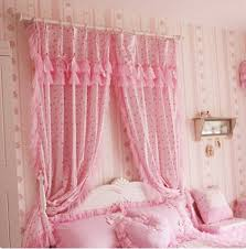 Ruffled Curtains Pink Curtains And Drapes Decorate The House With Beautiful Curtains