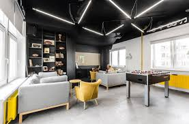 Modern Office Interior This New Office Interior Uses Wood And Black Frames To Clearly