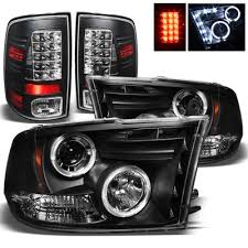 2014 ram 1500 tail lights dodge ram 2009 2015 black projector headlights and led tail lights