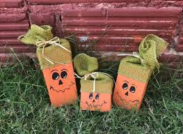 halloween wood blocks fall decor wooden pumpkins wood pumpkin halloween
