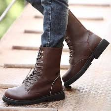 sale winter warm plush men boots fashion genuine leather