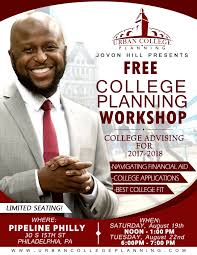 free urban college planning workshop 8 22 2017 tickets tue aug