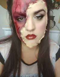 Easy Scary Makeup Ideas For Halloween Halloween Torn Off Face Makeup Beauty Look Ideas Easy