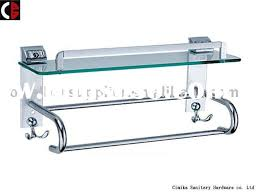 Glass Bathroom Shelf With Towel Bar Bathroom Glass Shelves With Towel Bar Medium Size Of Pole Corner
