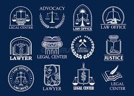 bureau des avocats cabinet d avocats centre juridique et ensemble d insigne de bureau