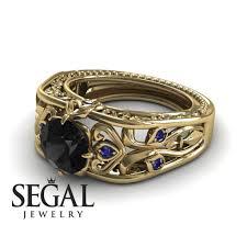 the art deco choir black diamond ring skyler no 7 u2013 segal jewelry