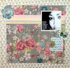 Flower Design For Scrapbook Ideas For Using Oversize Floral Patterned Papers On Scrapbook Pages