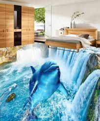 aliexpress com buy custom photo waterfall dolphin 3d floor