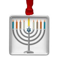 hanukkah menorah ornaments keepsake ornaments zazzle