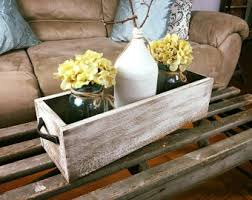 Wood Box Centerpiece by Mason Jar Box Etsy