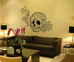wall decals mexican boutique your mexican online store vinyl wall art decal sticker flowers and sugar skull