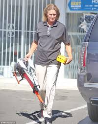 what is happening to bruce jenner bruce jenner s long locks look fried and faded as he steps out to