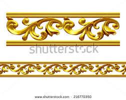 golden frame baroque ornaments gold pictures stock illustration