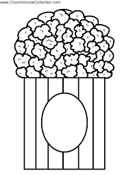 popcorn coloring page coloring home
