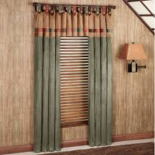 living room fusion tab top window treatments design with tab top