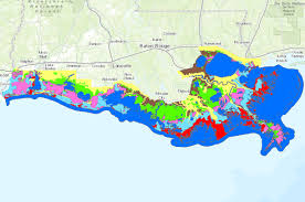 Louisiana vegetaion images 2013 louisiana coastal marsh vegetative type map data basin png