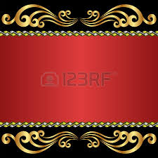 black and background with gold ornaments royalty free cliparts