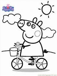 peppa pig cartoon coloring pages kids printable free