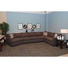 Klaussner Sectionals Contemporary 3 Piece Sectional With Track Arms And Laf Cuddler By