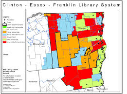 Franklin Maps Clinton Essex Franklin Library System Public Library Service Area